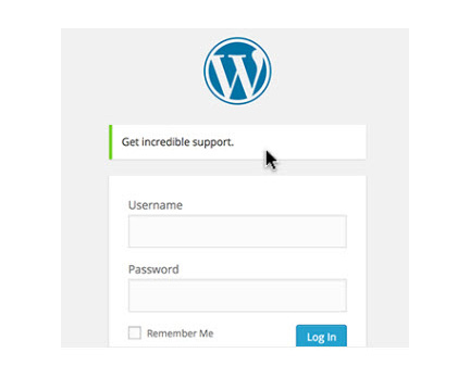 Login Message for WordPress